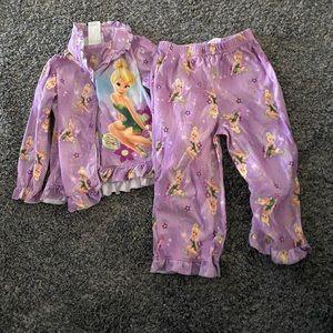 Girl tinker-bell pajamas